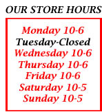 Open 6 days a week, closed on Tuesday!